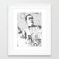 james bond Framed Art Prints featuring James Bond by Liam Brazier