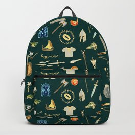 Lord of the pattern green Backpack