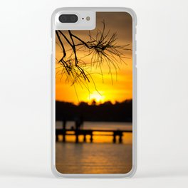 Belmont, Green Point, Australia Jetty at Sunset (Portrait) Clear iPhone Case