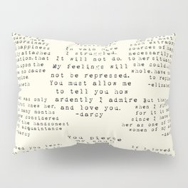 Passion of Jane Austen - Cream Pillow Sham