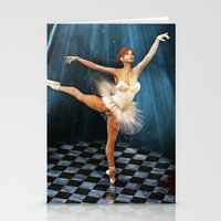 ballerina Stationery Cards featuring ballerina by Ancello