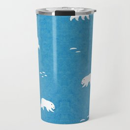 Polar Bears Pattern Travel Mug