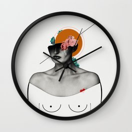 she. loved. Wall Clock