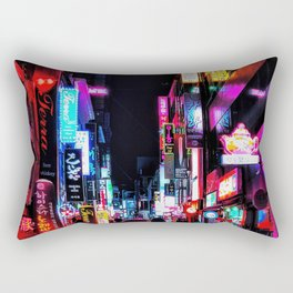Vibrant Seoul Nights Rectangular Pillow