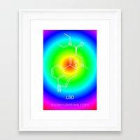 lsd Framed Art Prints featuring LSD by moleculestore