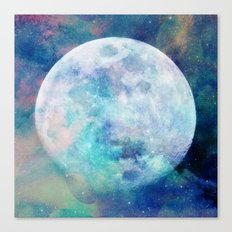 Moon + Stars Canvas Print