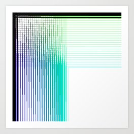 Multicolor digital thread woven in a quadrant Art Print