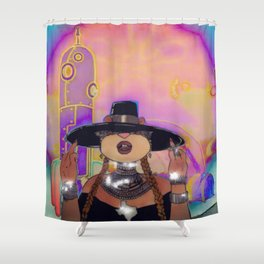 S. Cheeks in Formation Shower Curtain