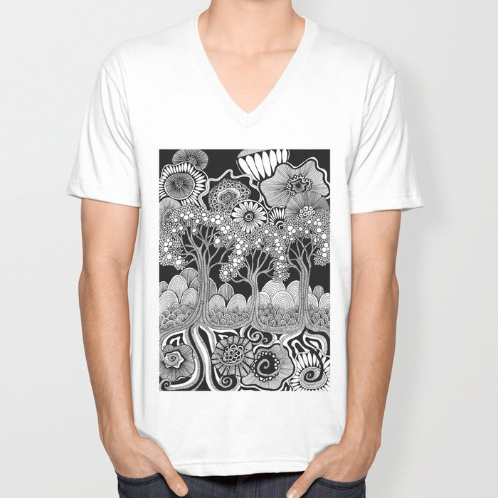 Doodle Unisex V-Neck