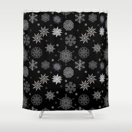 Snowflake Large Print Pattern Shower Curtain