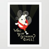 ghost busters Art Prints featuring Ghost busters by Maria Jose Da Luz