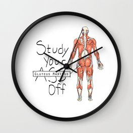 Study Your Gluteus Maximus Off Wall Clock