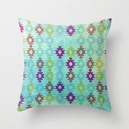Santa Fe Dreams Geometric Aztec Colorful Design Throw Pillow