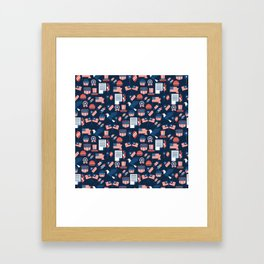 Independence Day Pattern Framed Art Print