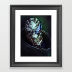 Mass Effect: Garrus Vakarian Framed Art Print