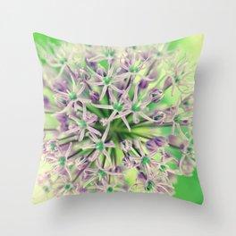 Allium christophii Throw Pillow