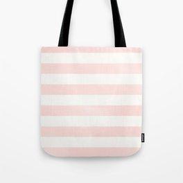 Pink Coral Stripes Tote Bag