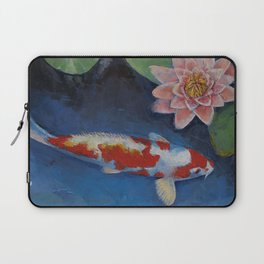 Koi and Water Lily Laptop Sleeve