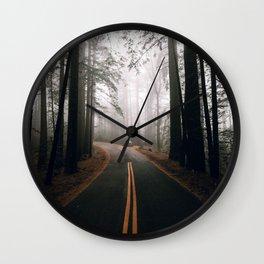Road Trip V / Mount Tamalpais, California Wall Clock
