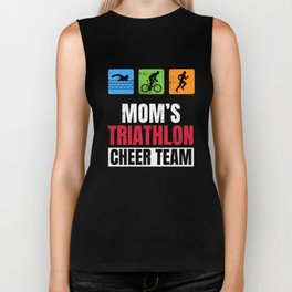 Moms Triathlon Supporters Family Cheer  Biker Tank