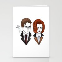 mulder Stationery Cards featuring mulder and scully by Bunny Miele