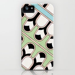 Vintage Mint Green Assyrian Pattern with a hint of Art Deco iPhone Case