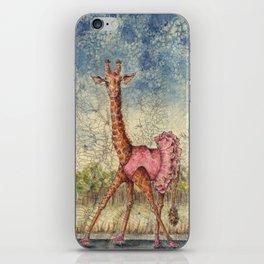 Giraffe in Pink Tutu iPhone Skin