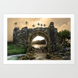 Never Never Land, St John 2010 Art Print