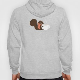 Cute Squirrel Coffee Lover Winter Holiday Hoody