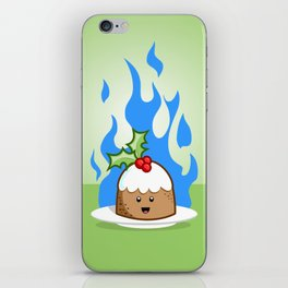 Flaming Pudding iPhone Skin