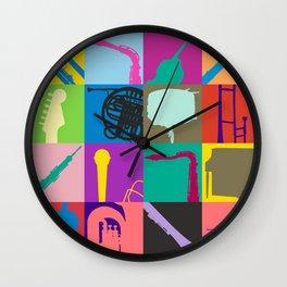 Pop Music Art Wall Clock
