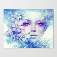 sale Canvas Prints featuring December by Anna Dittmann