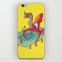 kraken iPhone & iPod Skins featuring kraken by Caramela