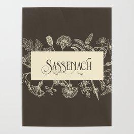 Sassenach in Sepia Poster