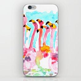 Welcome to Miami - Flamingos Illustration iPhone Skin