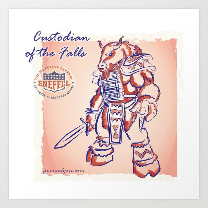 Custodian of Bills Falls Art Print