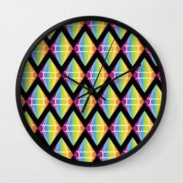 Abstract [RAINBOW] Emeralds pattern Wall Clock