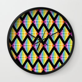 Abstract [RAINBOW] Emeralds pattern Wall Clock