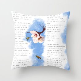 Phenomenal Women by Maya Angelou Art Drawing Print Throw Pillow