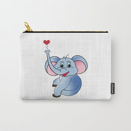 Loving Elephant Carry-All Pouch
