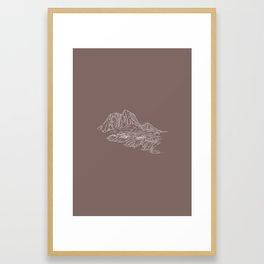 Mountain Series - Lofoten Island Framed Art Print