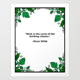 Brews & Hues: a Quote from Oscar Wilde (Portrait) Art Print