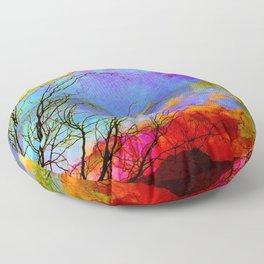 Desert Mesquite Sunset Silhouette-Barbara Chichester Floor Pillow