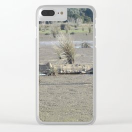 Log in dry marsh Clear iPhone Case
