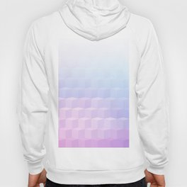 Pastel Cube Pattern Ombre 1 - pink, blue and vi Hoody