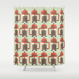 French Press Shower Curtain