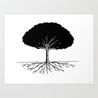 A Tree Needs Roots Art Print