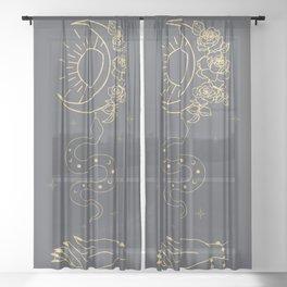 Bohemian Universe Sheer Curtain