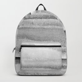 Foggy view abstract landscape paintin - Grayscale minimal design Backpack