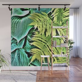 468 - Abstract Leaf Design Wall Mural